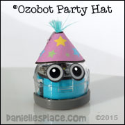 Ozobot Party Hat Printable Patterns from www.daniellesplace.com