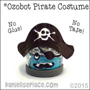 Ozobot Pirate Hat Craft from www.daniellesplace.com