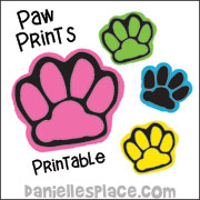 printable paw prints