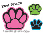 Paw Prints Printable