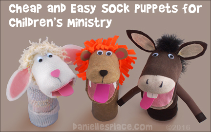 Cheap and Easy Sock Puppets for Children's Ministry from www.daniellesplace.com