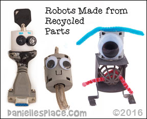 Recycled Parts Robot Craft from www.daniellesplace.com