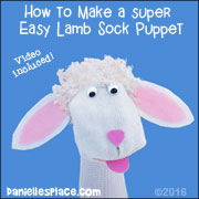 No-sew Sheep Sock Puppet Craft for Kids from www.daniellesplace.com