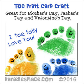 Toe-tally Awesome Valentine's Day Craft for children from www.daniellesplace.com