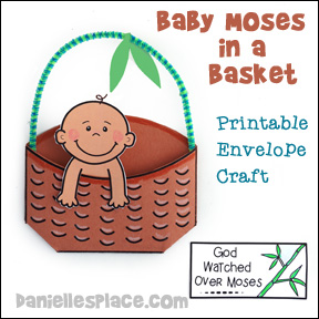 Baby Moses Printable Envelope Craft 1 from www.daniellesplace.com