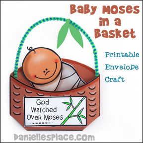 Baby Moses Printable Envelope Craft 2 from www.daniellesplace.com