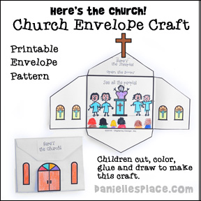 Church themed crafts and activities for sunday school for Crafts for children s church