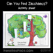 zacchaeus activity sheet