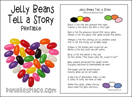 Jelly Beans tell a Story free printable for Easter Sunday from www.daniellesplace.com