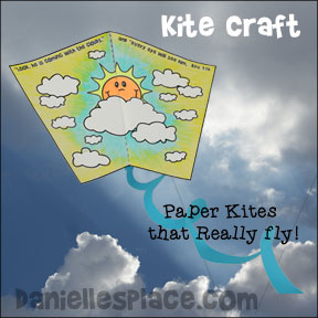Paper Kite Craft for Homeschool groups and Children's Ministry from www.daniellesplace.com