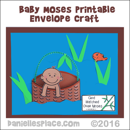 Baby Moses Printable Envelope Craft 3 For Sunday School
