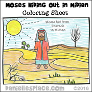 Moses Hiding Out in Midian Coloring Sheet from www.daniellesplace.com