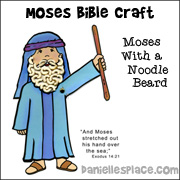 Moses Bible Craft from www.daniellesplace.com