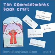 Ten Commandment Booket Craft