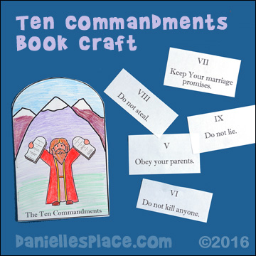 Moses Ten Commandments Booklet from www.daniellesplace.com