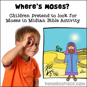 Where's Moses - Bible lesson review activity from www.daniellesplace.com