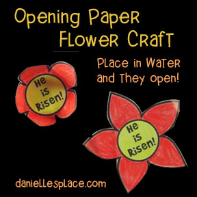 "He Lives!"" Flower that opens when place in water Craft from www.daniellesplace.com"