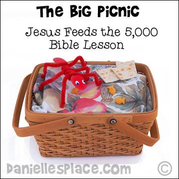 Bible Crafts Jesus Feeds on Ant Preschool Worksheets