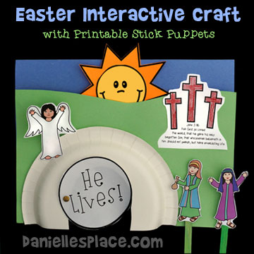 Interactive Bible Craft with printable stick puppets to tell the story of Easter  sc 1 st  Danielleu0027s Place & Christian Easter Crafts for Childrenu0027s Ministry - Page 2