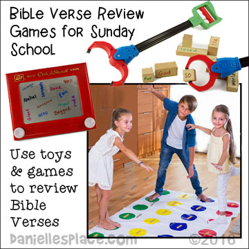 Bible Verse Review Games Using Children's Toys and Games from www.daniellesplace.com