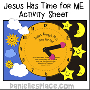 jesus has time for me activity sheet