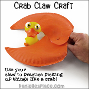 Paper Plate Crab Claw Craft and Learning Activity