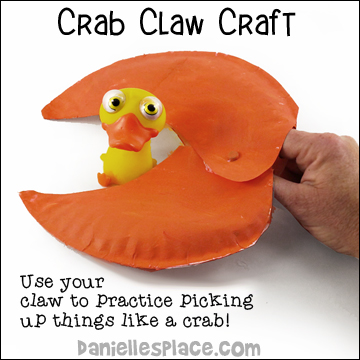 Paper Plate Crab Claw