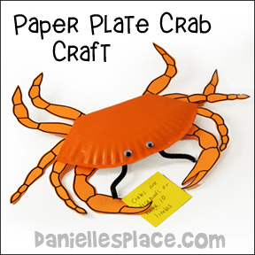 Crab Paper Plate Craft for VBS - from www.daniellesplace.com