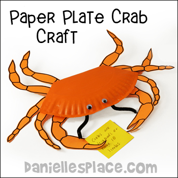 Crab Paper Plate Craft and Learning Activity  sc 1 st  Danielleu0027s Place : paper plate crab - pezcame.com