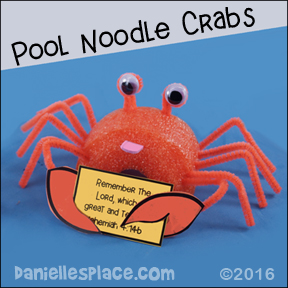 Pool noodle Crab Craft