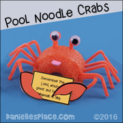 Crab Pool Noodle Craft for Kids