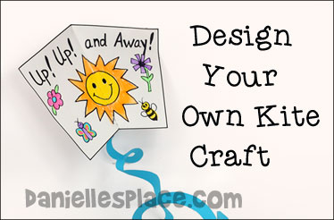 Design-your-own Kite Craft from www.daniellesplace.com - Free Printable Kite Pattern
