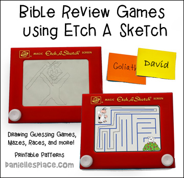 Bible Lesson Review Games Using Etch A Sketch Magic Screens