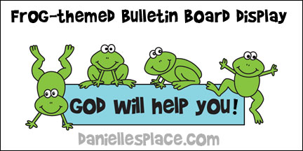 Frog-themed Bulletin Board Printables from www.daniellesplace.com
