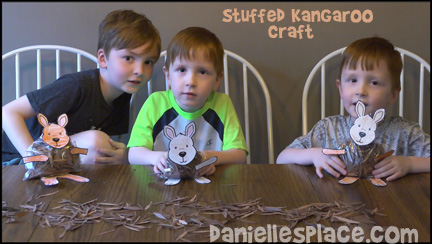 Kids Make a Stuffed Kangaroo Craft