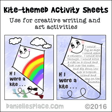Kite-themed Printable - Use these printables for creative writing and art activities.