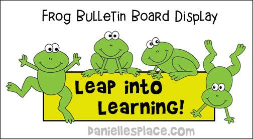 Leap into Learning Frog Bulletin Board Display Printable