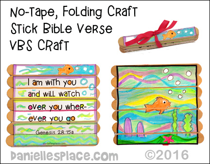 No-Tape, Folding Craft Stick Bible Verse Activity for Vacation Bible School from www.daniellesplace.com