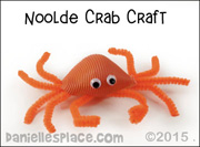 Noodle Crab Craft