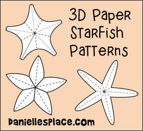 3D Starfish Patterns from www.daniellesplace.com
