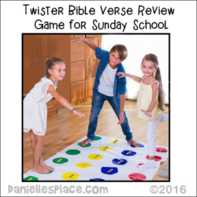 Twister Bible Verse Review Game for Sunday School from www.daniellesplace.com