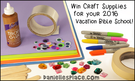 Win craft supplies for your Vacation Bible School! Danielle's Place is giving away craft supplies to help make your VBS even better. Follow us on Facebook or Twitter to find out when the giveaways are live on Amazon.
