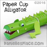 Paper Cup Alligator Toy