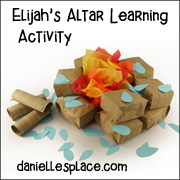 Elijah Altars Learning Activity and Lesson Help from www.daniellesplace.com