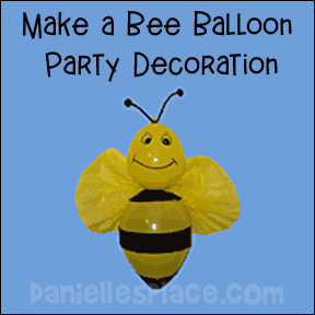 Bee Balloon Party Decoration Craft for Kids
