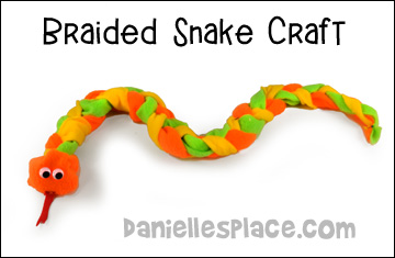 Braided Snake Craft from www.daniellesplace.com
