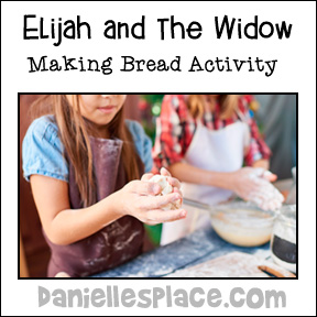 Elijah and the Widow Bread Making Activity from www.daniellesplace.com