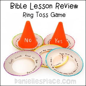 Sports Cone Ring Toss Game