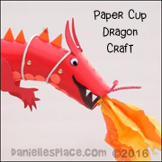 Dragon Cup Puppet Craft from www.daneillesplace.com