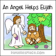 An Angel Helps Elijah Coloring Sheet